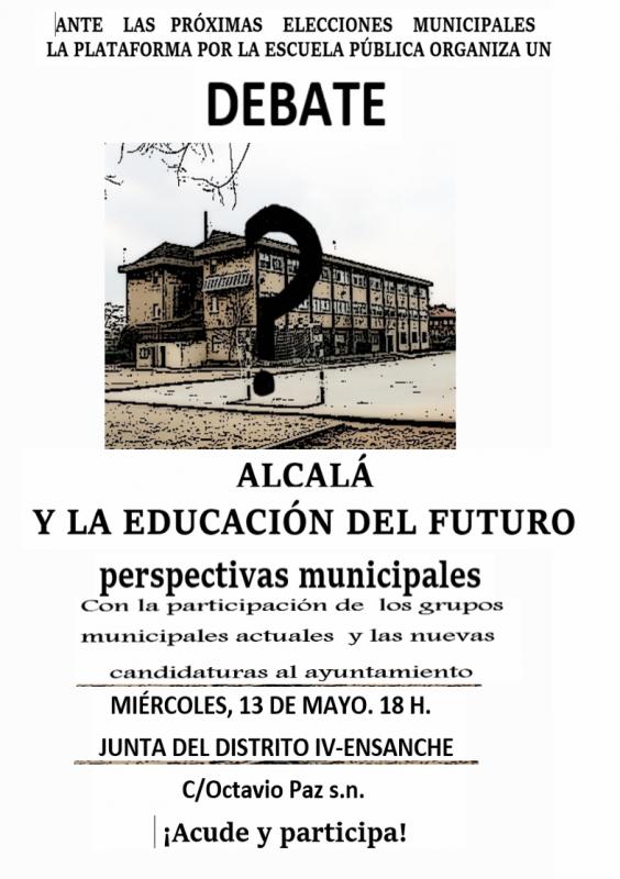 """Estuvimos en el debate """"Alcalá y la educación delfuturo"""""""